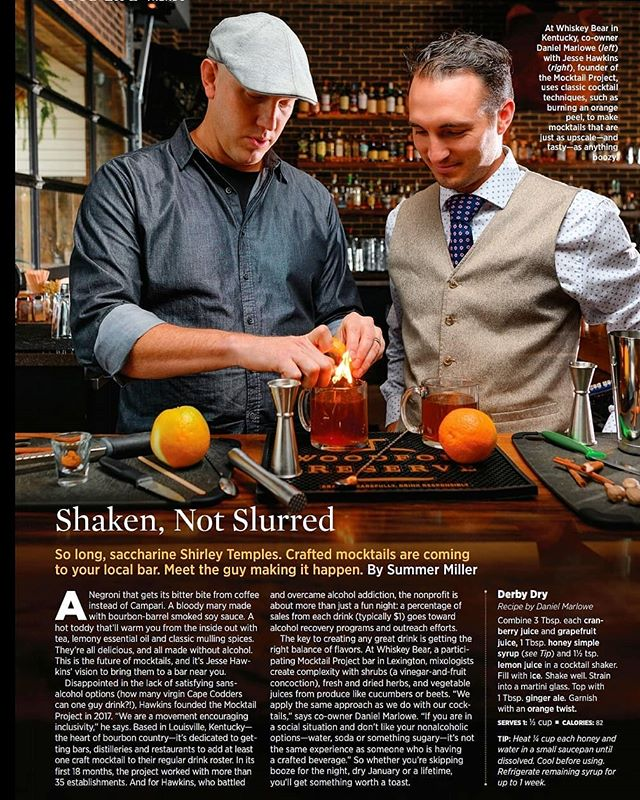 It's hard to believe that nearly five years ago I made the personal choice to have my last drink. For someone that was lost and at the crossroads of life, it's always humbling to look down and see your story in a national publication.  #themocktailproject  _________________________________  If you're struggling from alcohol, substance abuse, mental health issues, E.D, or just in a rut, don't give up, don't ever give up. We are human. We will face hardships, fall, and stumble a lot in life. There may be times when we feel like there is no hope left in this world. Trust me, facing your fears is challenging. Asking for help is difficult. But if I can do it, so can you!  _________________________________  If you're in recovery. Taking a break from imbibing. Sober. Pregnant. Or just a lover of a good mocktail, go show my project some love. Tag a friend, share, like and follow @themocktailproject  _________________________________  The mocktail project is a grassroots movement helping to cultivate a safer, more inclusive drinking culture. Ensuring that all social environments provides access to high-quality, non-alcoholic options for when you choose not to imbibe. Through our collaborations and support, we provide recovery tools & resources in local communities - cheers friend. 🍸