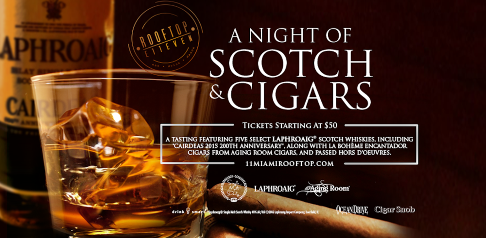 A NIGHT OF SCOTCH AND CIGARS AT THE ROOFTOP AT E11EVEN
