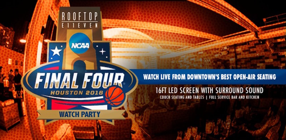 ROOFTOP TO HOLD FINAL FOUR & NCAA CHAMPIONSHIP WATCH PARTIES