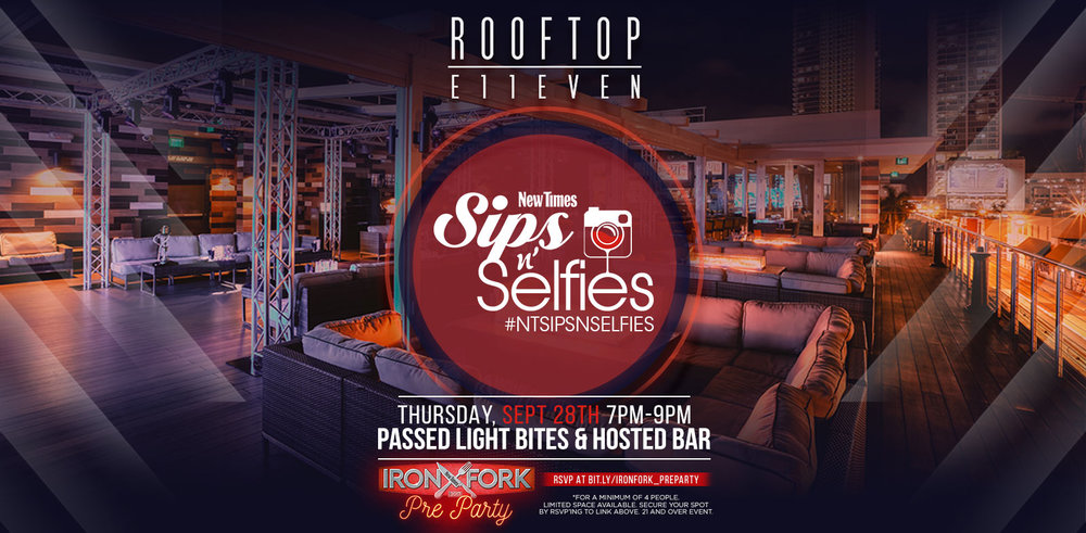 Sips N' Selfies Pop Up Party at 11Rooftop