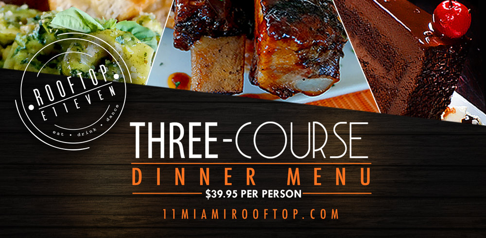 Three-Course Dinner for $39.95   Menu