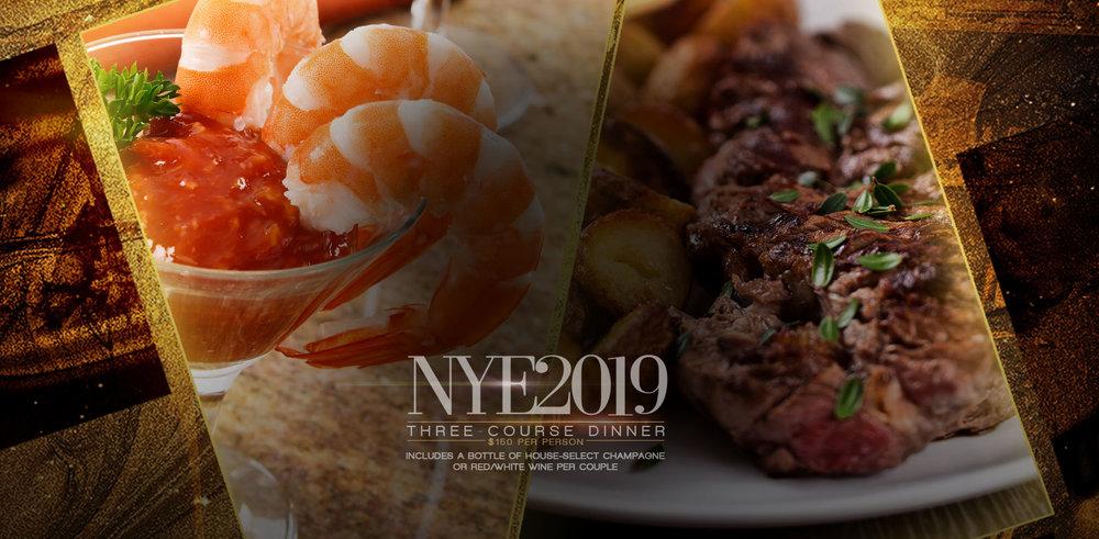 NYE 2019 Three-Course Dinner