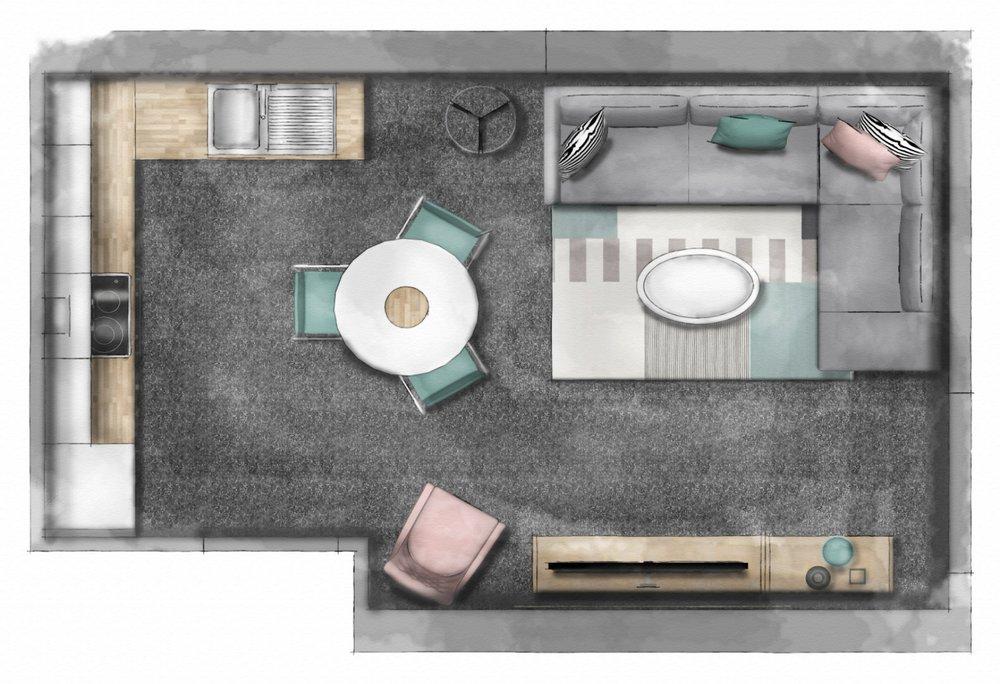 Floorplan created using  Sketchup Hub