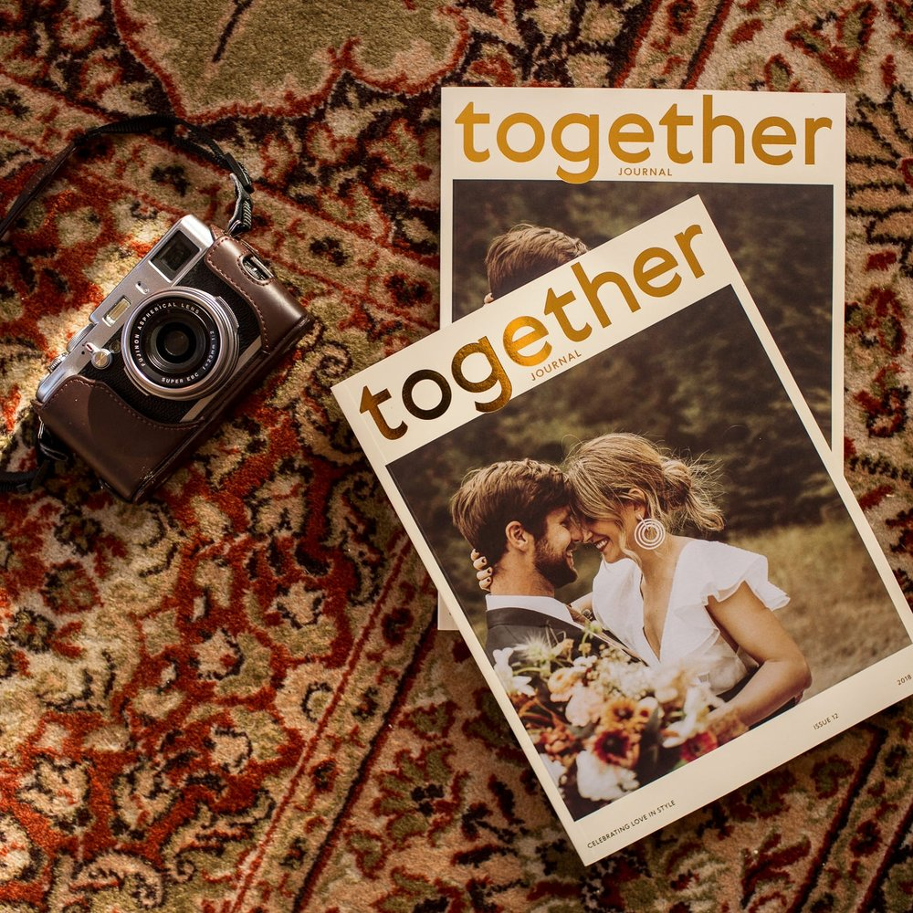 TOGETHER JOURNAL   A fresh new concept in niche global wedding & lifestyle magazines,  Together Journal  celebrates creative & authentic real weddings, celebrations & love from all over the world. Alongside their real weddings Together Journal feature a beautiful blend of lifestyle content spanning food, fashion, beauty, flora, travel & design.   www.togetherjournal.com