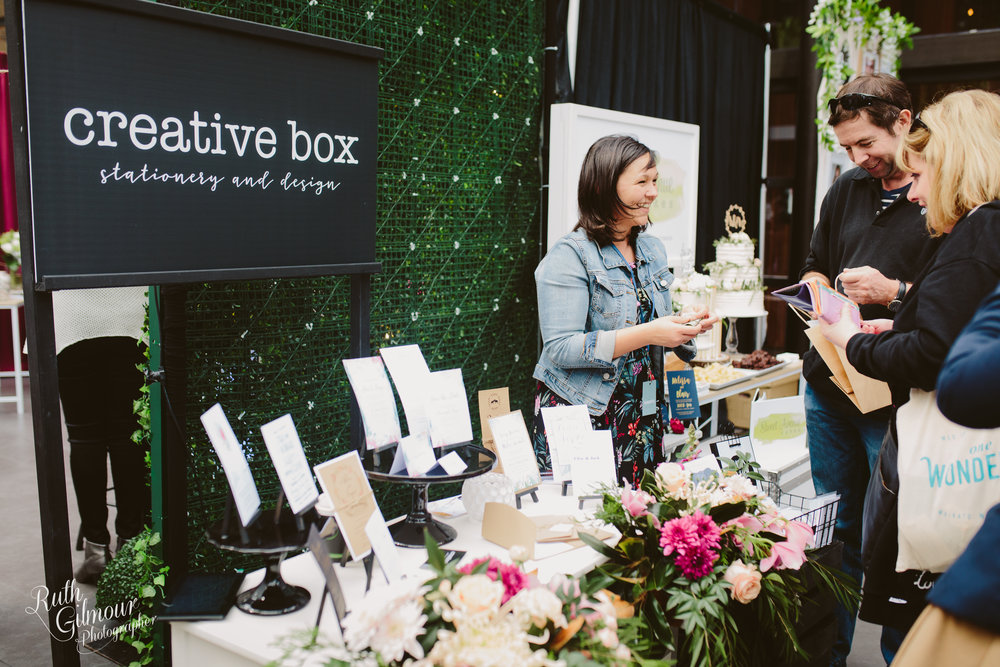 Kelly from Creative Box chats & shows her design work. Image by Ruth Gilmour Photographer 2018