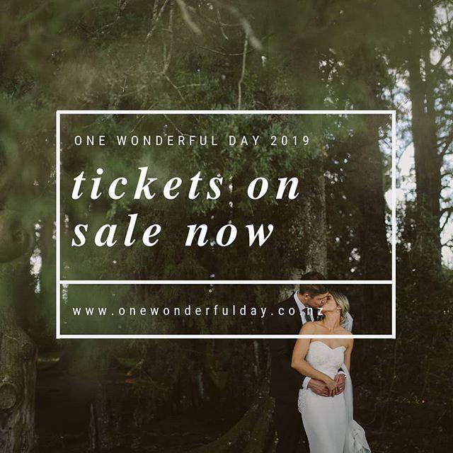 Tickets are now live 🙌🏻 first 20 sales will receive a back issue of @togetherjournal 😘 www.onewonderfulday.co.nz/tickets or link in bio! • • • • • #onewonderfulday #waikatoweddingfair #weddingfair #weddingexpo #nzweddings #newzealandweddings #waikatowedding #waikatoweddings #loveislove #wedding #bride #groom #bridetobe #nzbride #weddingplanning