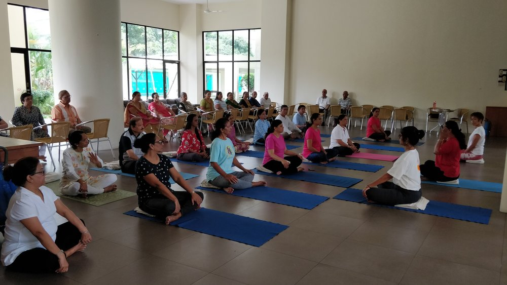 Yoga for Seniors: arranged by Ladies Wing: Singapore Gujarati Society