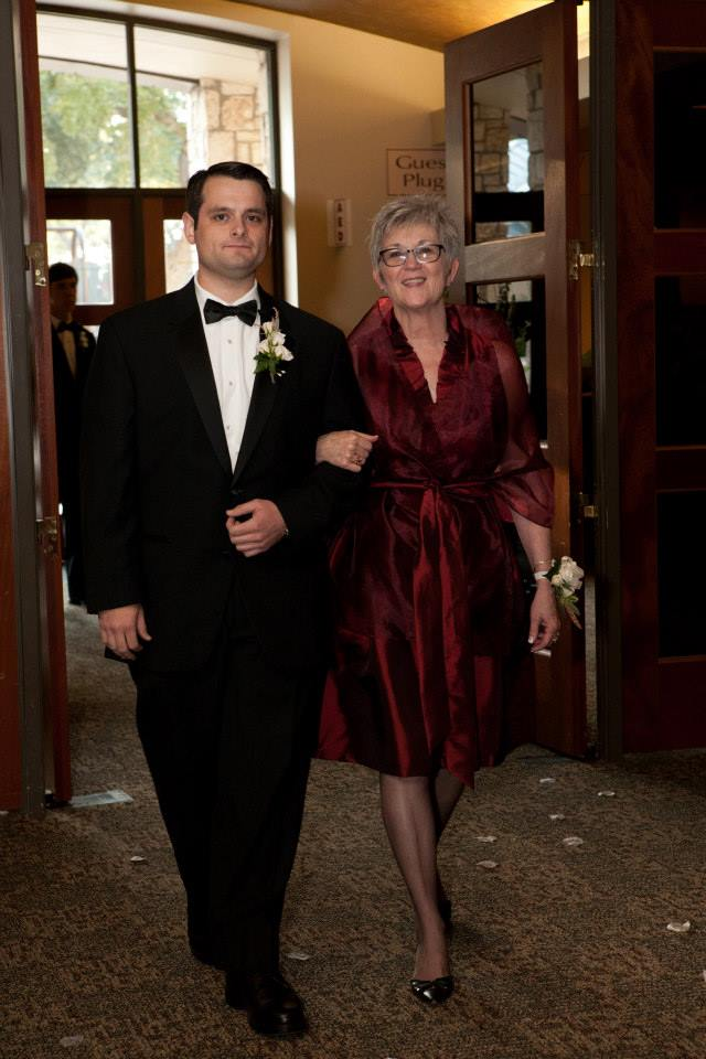 I absolutely love this picture from my wedding day! Aunt Michelle looked gorgeous (she was dressed to perfection, from her dress to her kitten heels). Those are two of my favorite people right there.