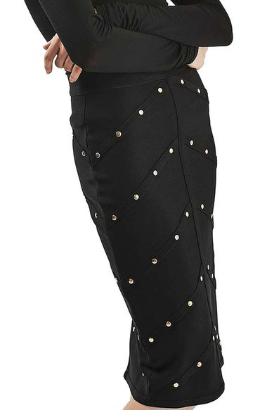 Topshop Studded Pencil Skirt