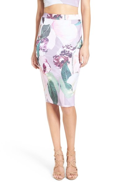 Nordstrom Floral Print Pencil Skirt
