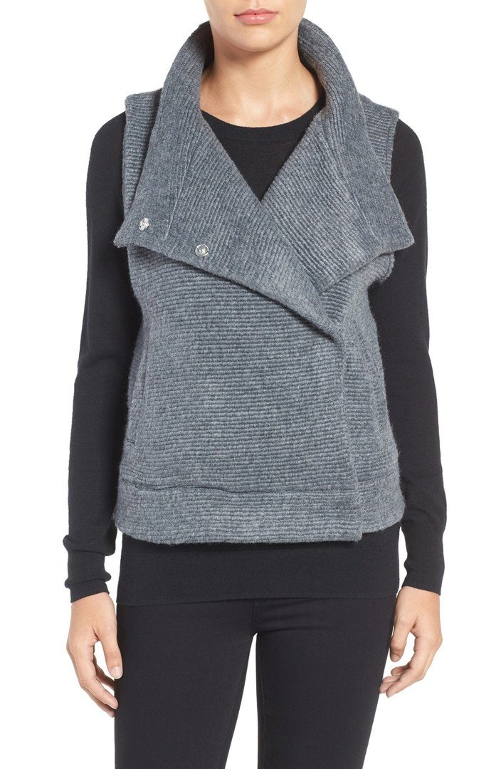 BB Dakota Elms Brushed Rib Knit Vest