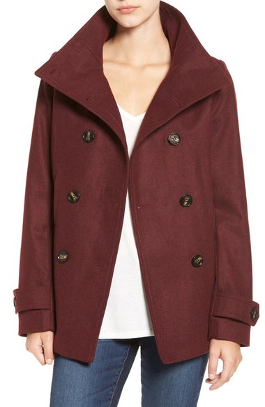 Thread & Supply Burgundy Peacoat