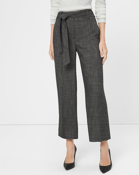 White House Black Market Wide-Leg Crop Trouser