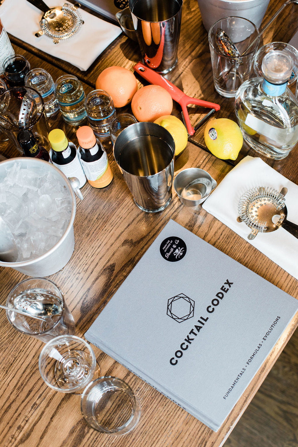 At this past winter's festival, guests learned how to whip up cocktails with Alex Day, owner of Death & Co.