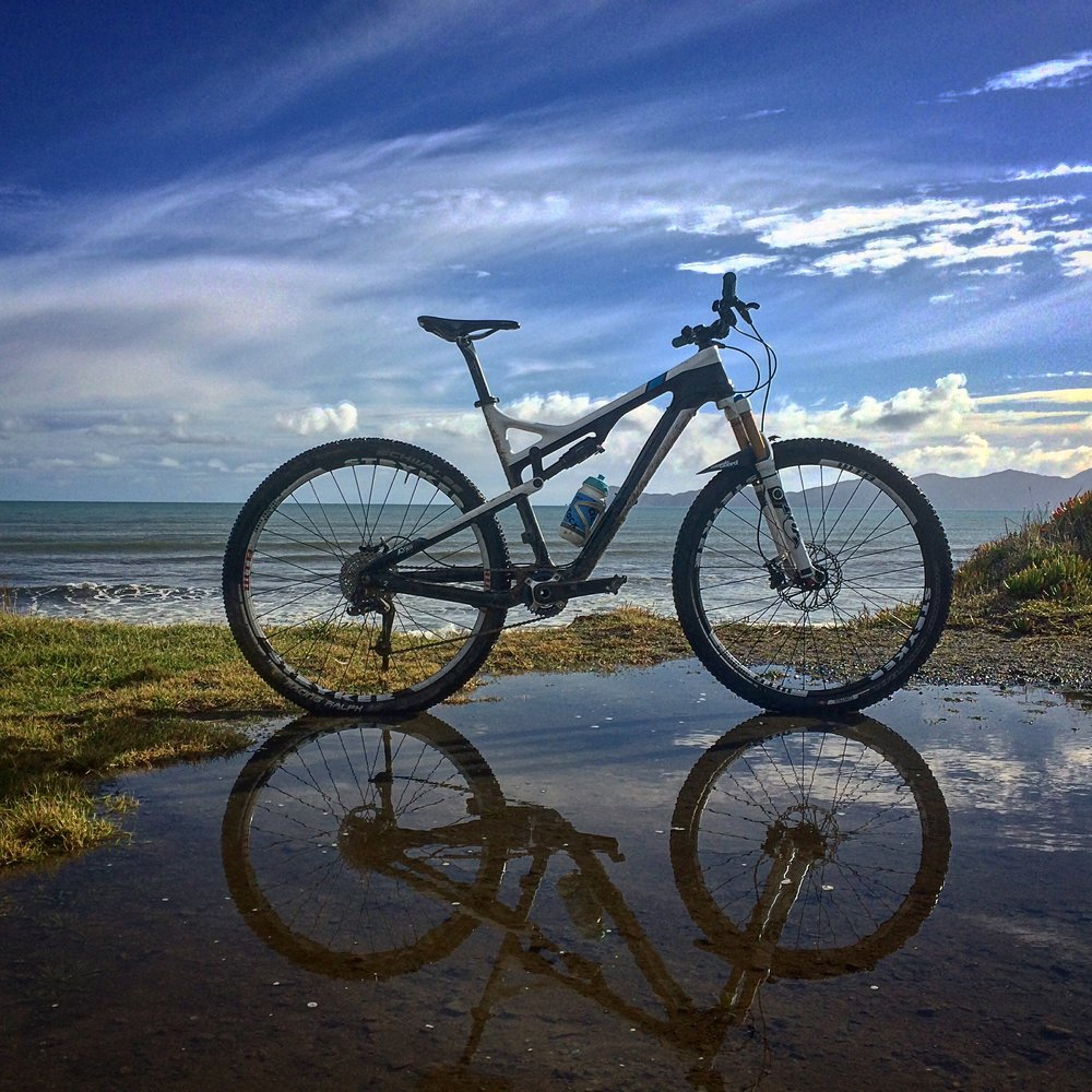 My Trek Superfly FS 29er. Mainly used for solo jungle missions or XC rides around Kapiti      photo : therodfather