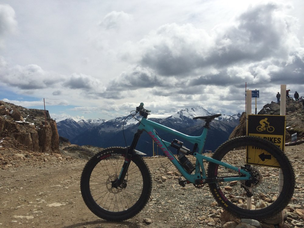 My Santa Cruz Nomad. Top of the World, Whistler.                                        photo : therodfather