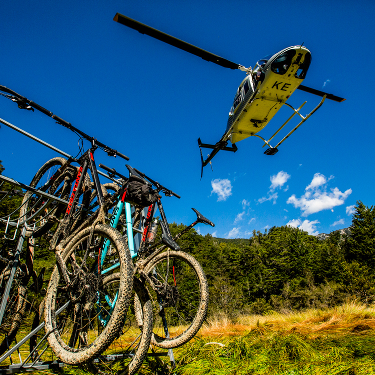 Getting a lift up to the Ghost Lake hut.         photo : therodfather