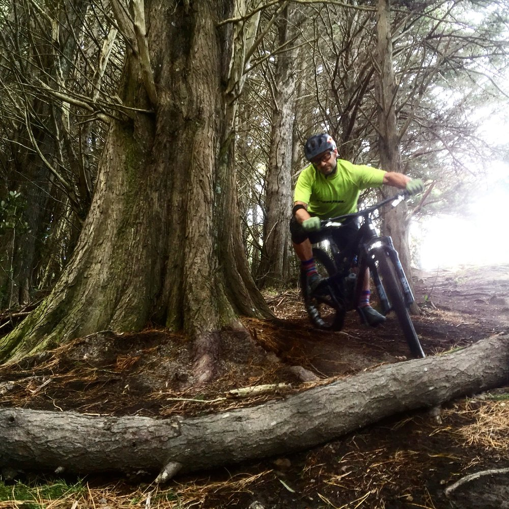 I practiced this turn for hours.       photo : Matt Wright    RockDrop, Mt. Victoria, Wellington