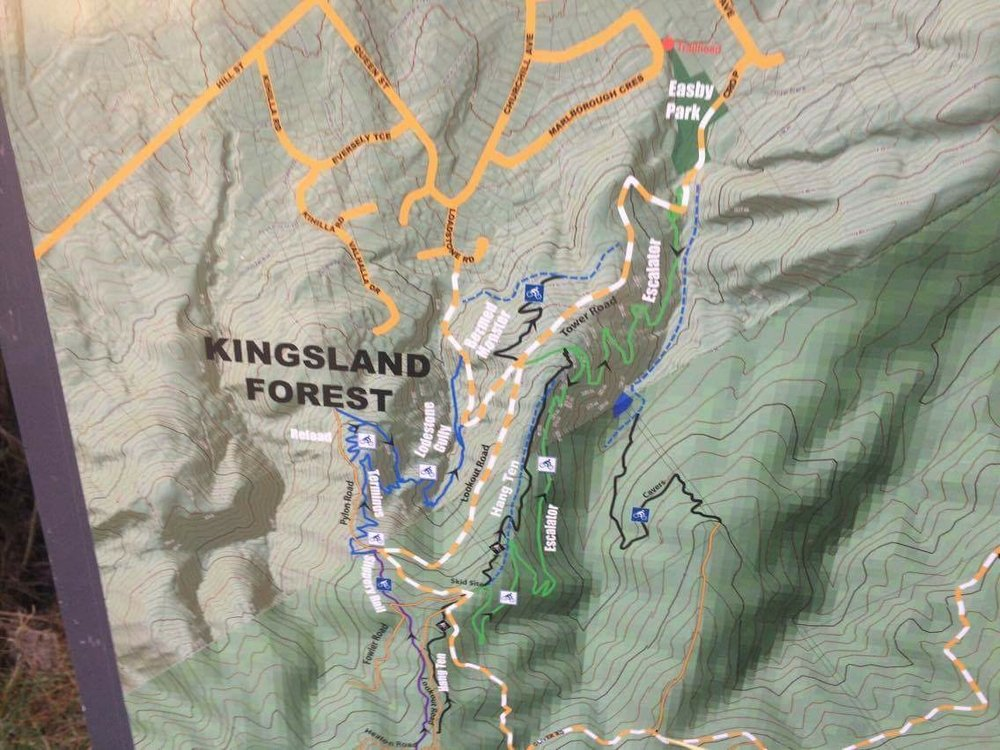There are handy easy to read maps with clear trail gradings.