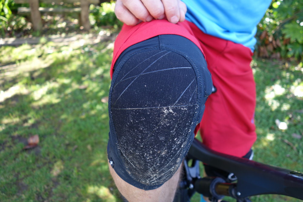 The knee cup conforms to your knee and is very comfy to pedal in. Good impact protection too.