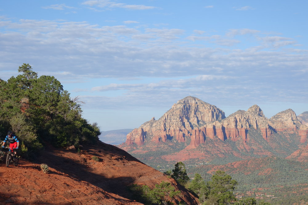 Jeff gets dwarfed by the majesty of Sedona.