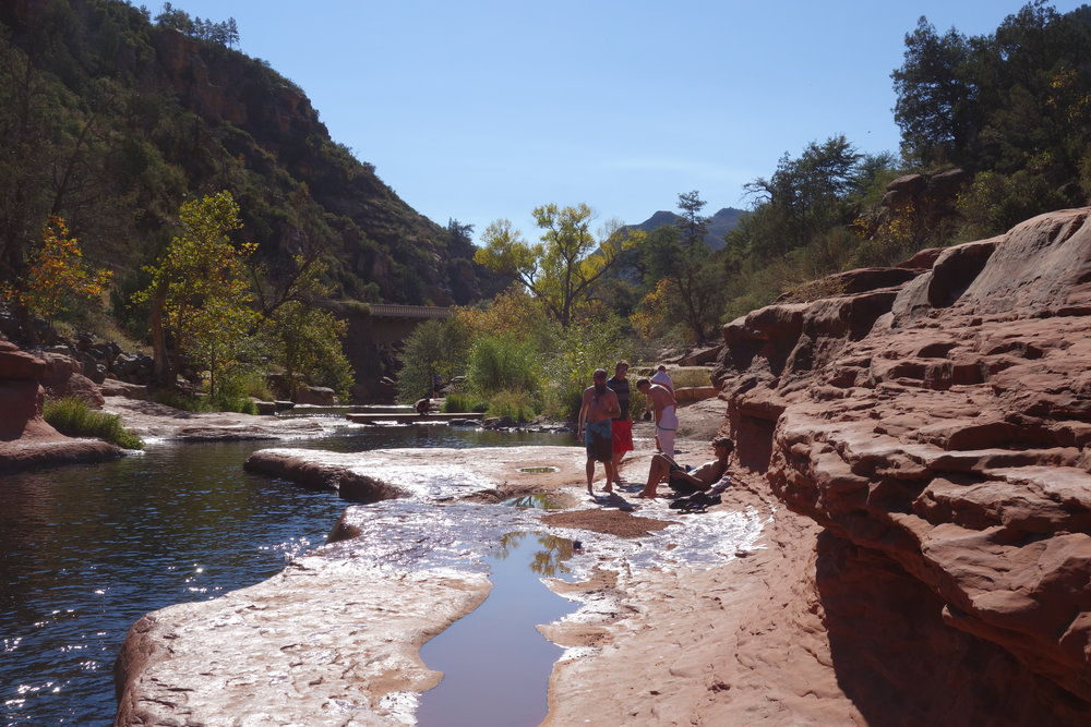 We stop off at Slide Rock for an icy cold swim.