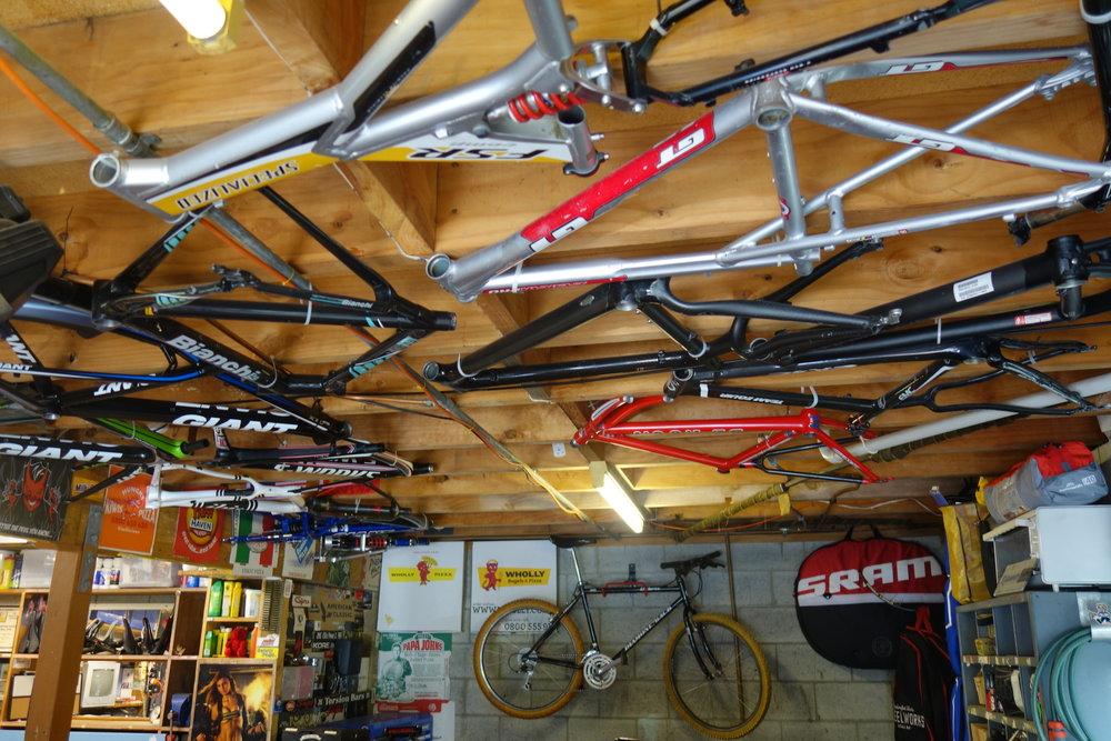 A bike hoarders paradise.