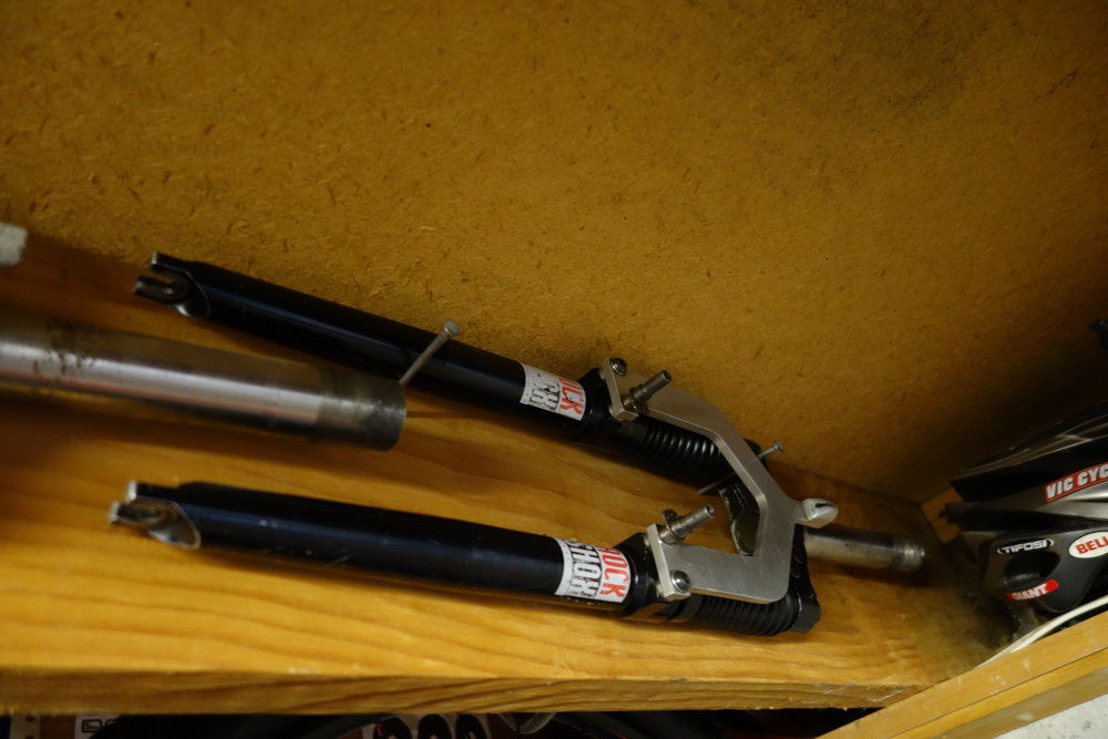 The first suspension fork, the Rockshox RS-1 circa 1990. I was astounded how much quicker it made any rider who bought one (for about $900). It had about 50mm of travel.