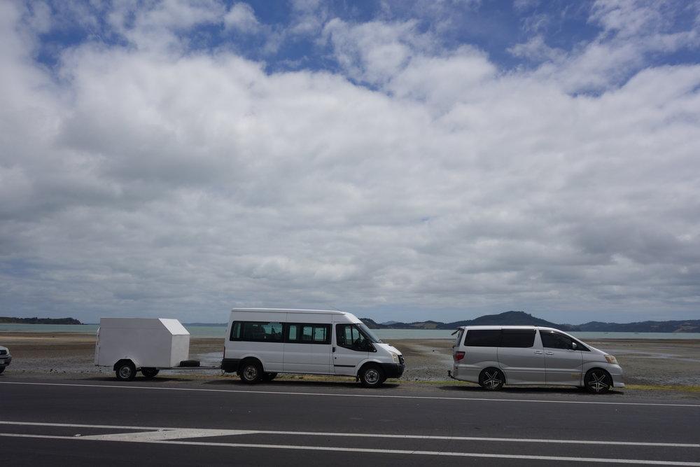 The Ninja train, Kawakawa Bay on route to 440 MTB Park.