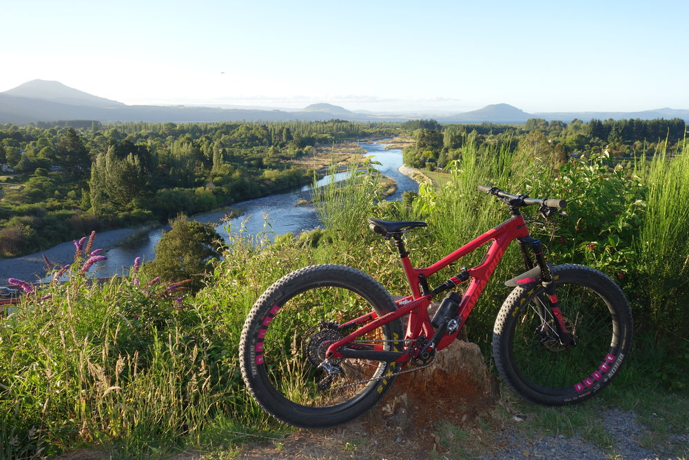 On the way home and my first ride without the Ninja team. A bit sad really. Tongariro river loop, Turangi.