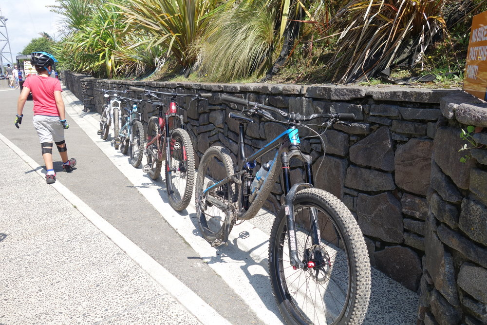 Even the bikes had a great time. There's something a bit weird about seeing your bike lined up next to your childrens bikes. It's like their washing on the line but RAD (you need to be a parent to get this).