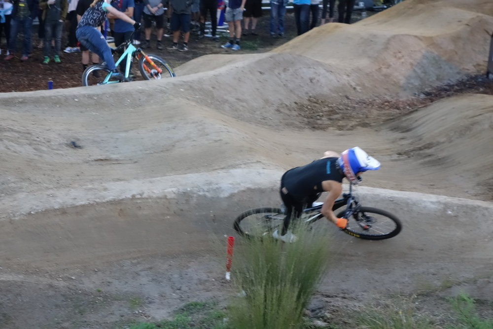 Oh crap... my stick fell out. Never mind, she hasn't got a hope in hell of winning the Pumptrack Challenge.