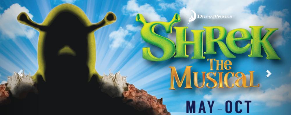 Shrek the musical playing at Tuacahn Center