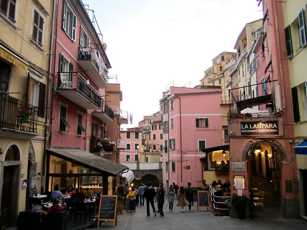 Walk down Via Colombo and make your way towards Piazza Vignaioli.