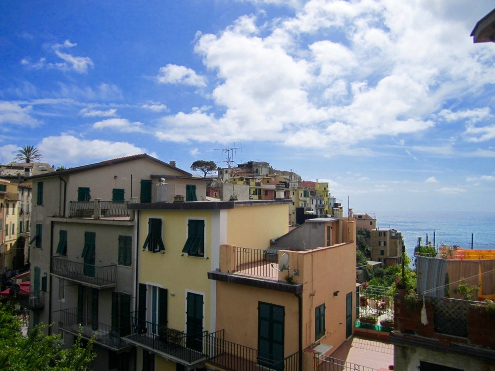 Similar to the other villages, Corniglia is made up of colorful buildings.