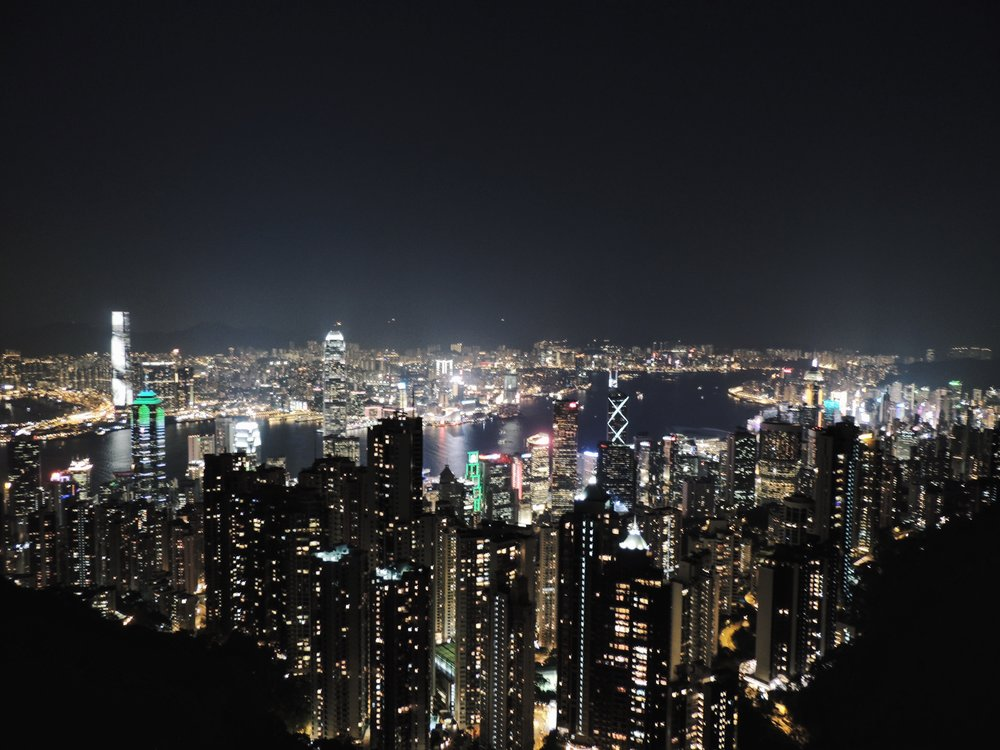 Spectacular view of Hong Kong
