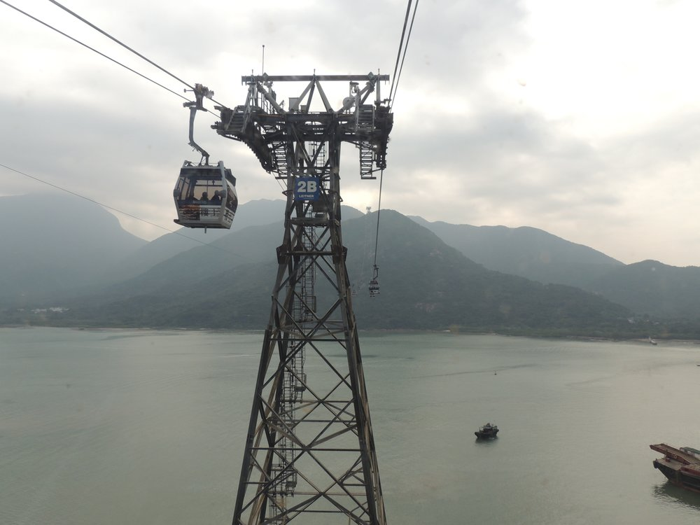 Take a cable car up to Ngong Ping Village