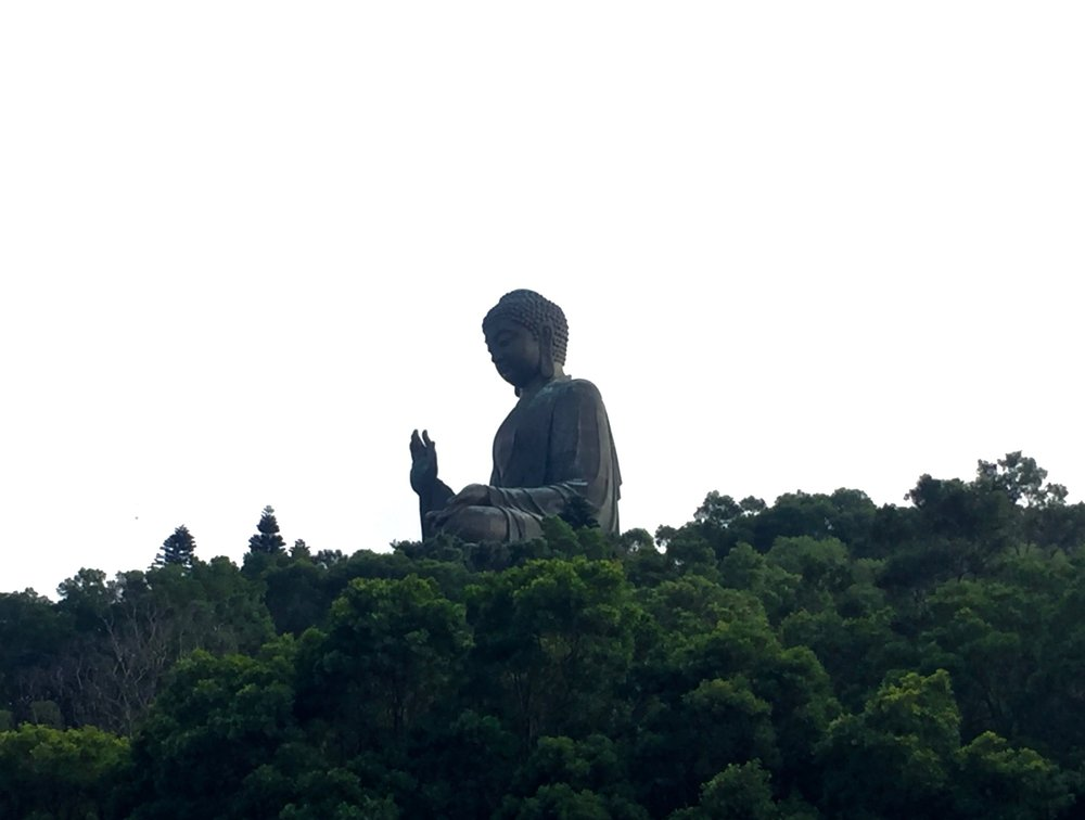 Tian Tan Buddha from a distance