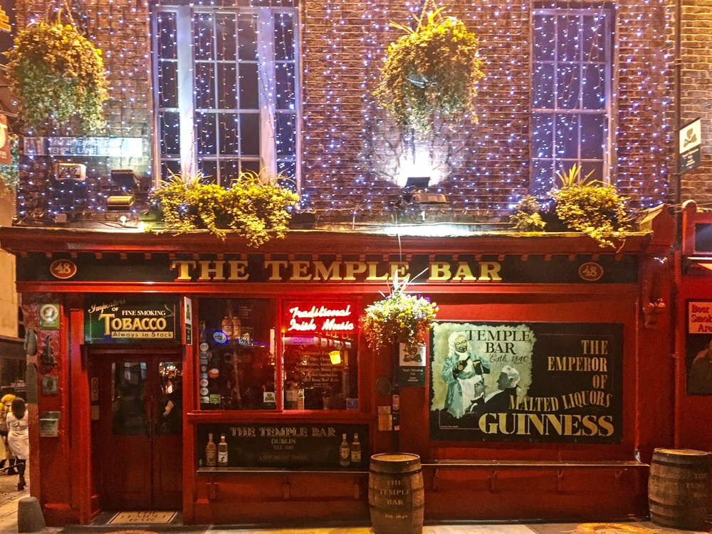 The iconic Temple Bar