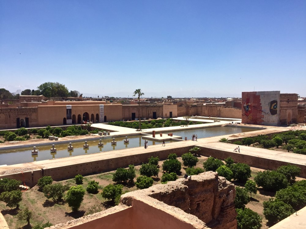 El Badi Palace courtyard