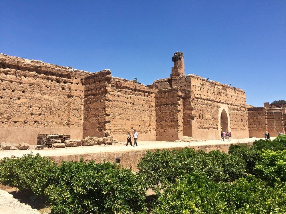 El Badi Palace - commissioned by the Arab Saadian sultan Ahmad al-Mansur