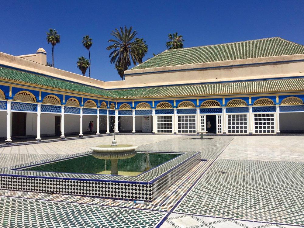 Bahia Palace courtyard