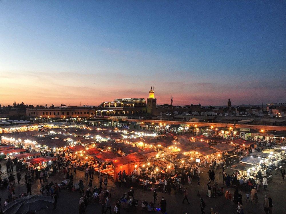 Sunset over Djemma el-Fna