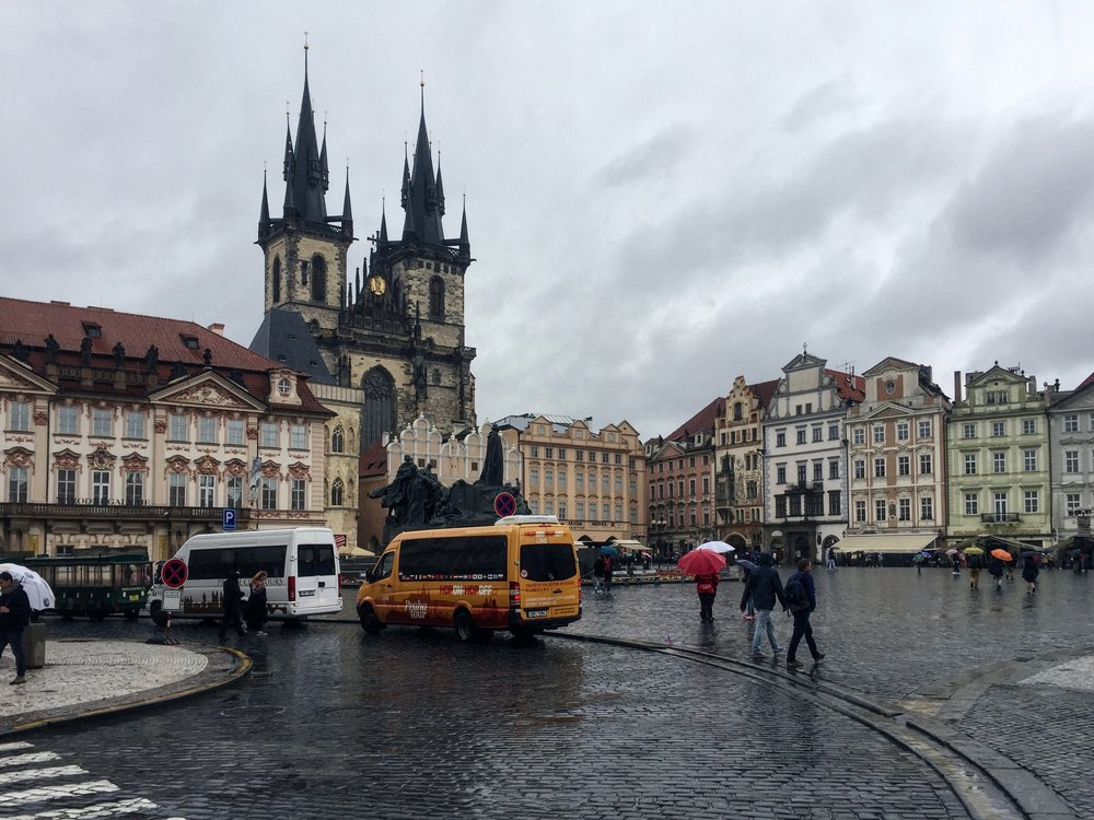 Old Town Square with Church of Our Lady before Týn in the background