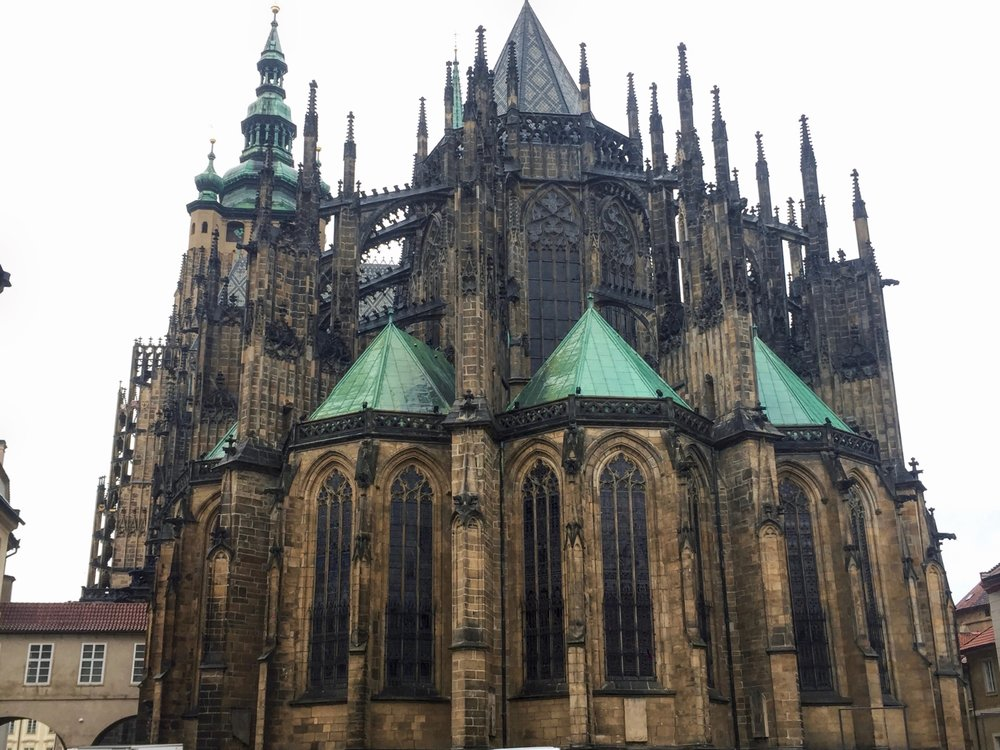 Gothic-styled cathedral with towering, intricate spires