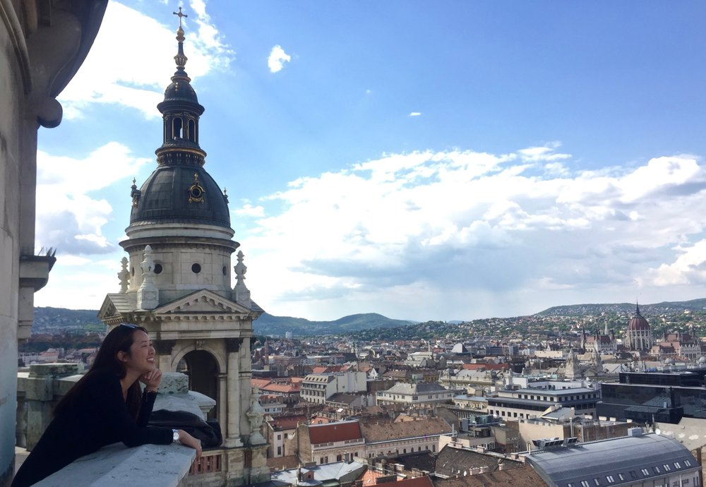 Panoramic view from the top of St. Stephen's Basilica