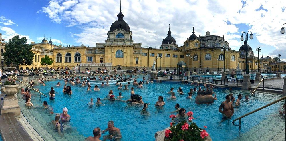 Enjoy a warm soak in one of Budapest's most popular medicinal bath