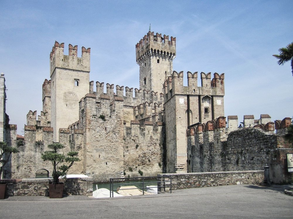 Castello Scaligero - this thirteenth castle is the main landmark and dominates the small town