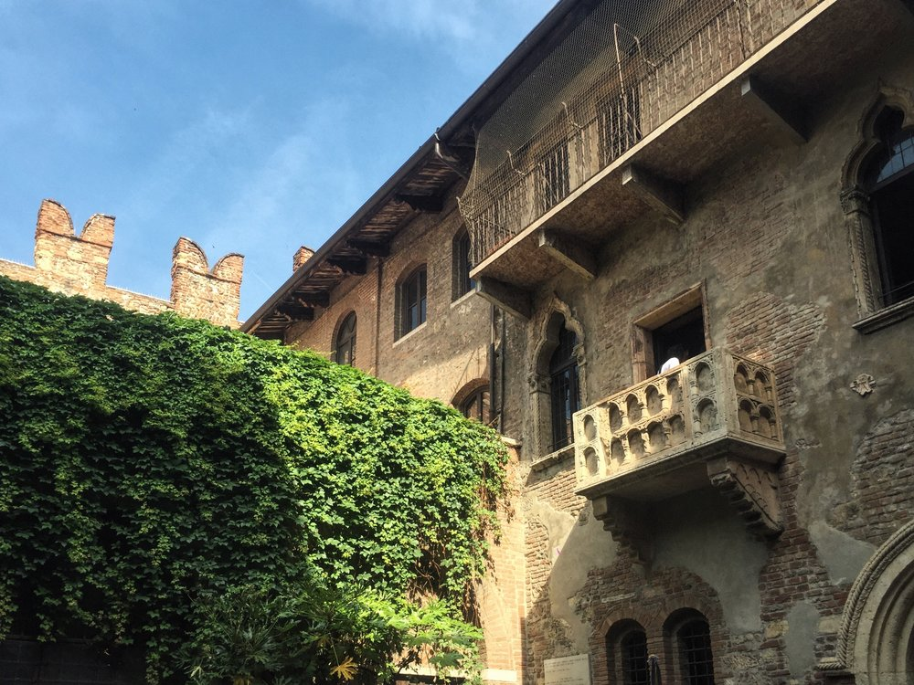 The stone balcony featured in Shakespeare's  Romeo + Juliet