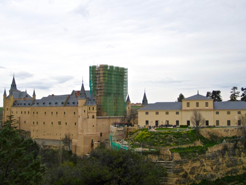A stunning fairytale castle (minus the green scaffolding)